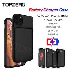 Батарея чехол для iPhone 5 5S SE 6 6S 7 8 Plus Powerbank зарядный чехол для iPhone X XS XR XS MAX 11 Pro MAX чехол для зарядного устройства
