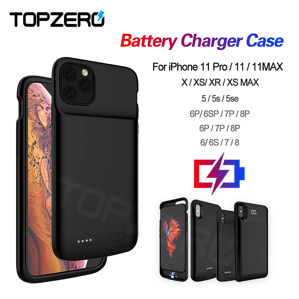 Batterij Case Voor Iphone 5 5S Se 6 6S 7 8 Plus Powerbank Opladen Case Voor Iphone X xs Xr Xs Max 11 Pro Max Battery Charger Case