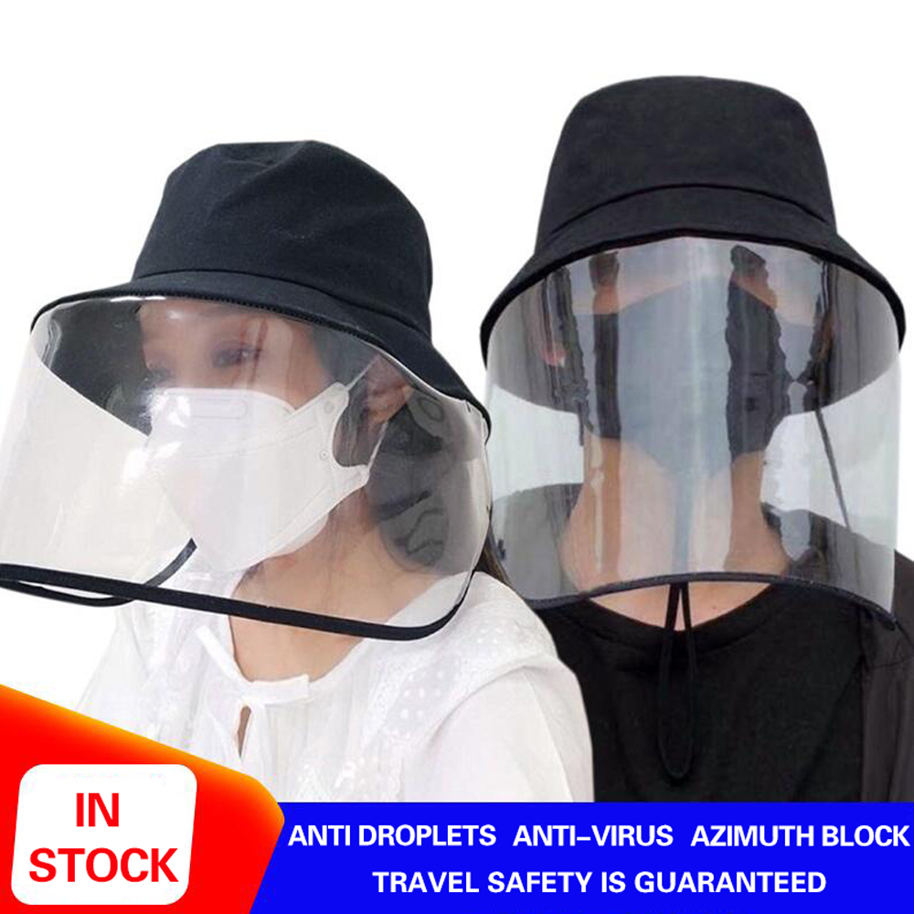 Virus Protective Hat Multi-function Protective Cap Eye Protection Anti-fog Windproof Hat Anti-saliva Face Cover Cap