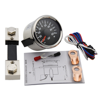 Amperemeter 150A painel universal moto Car boat 52mm AMP Current Meter Gauge 9-32v with red backlight for Car motorcycle Auto
