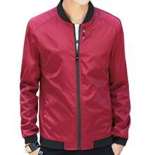 Men Simple Casual Baseball Jacket For Yfashion Solid Color Stand-up Collar Coat цена 2017