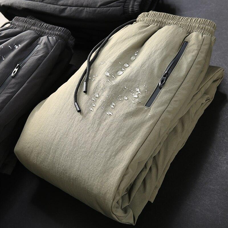JSBD bas pantalon hommes hiver slim extérieur tenue de sport chaud coton pantalon rembourré chaud droit pantalons décontractés