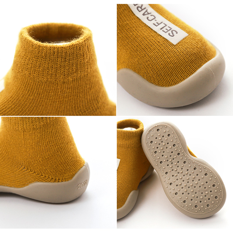 Unisex Baby Shoes First Shoes Baby Walkers Toddler First Walker Baby Girl Kids Soft Rubber Sole Baby Shoe Knit Booties Anti-slip 6