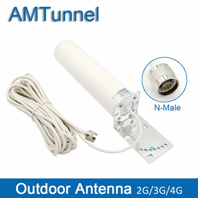 Mimo 4G Outdoor Antenna 2.4Ghz Antenna 3G 4G LTE Antenna 12dBi With N Male/SMA Male 5m/10m For Mobile Signal Booster