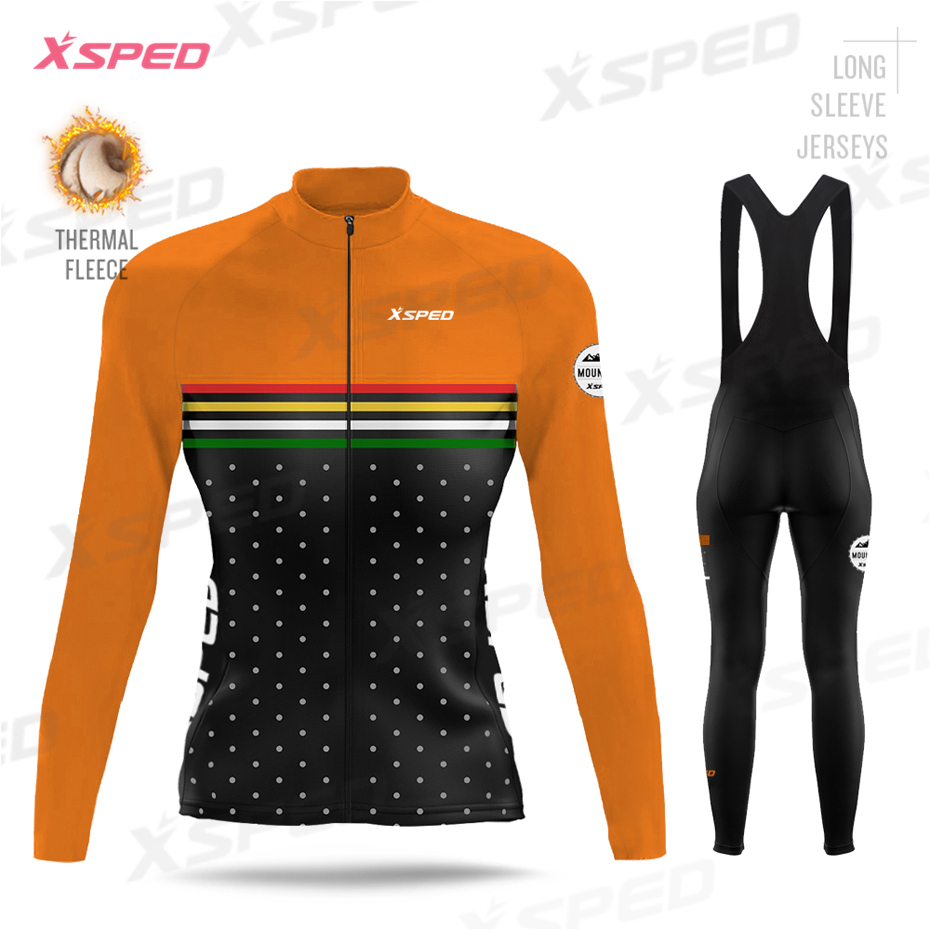 Winter cycling jersey set men Thermal Cycling Jersey And Tight Set
