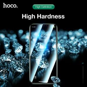 Image 2 - Hoco capa completa de vidro temperado para iphone 11 pro max xs max protetor de tela 3d de proteção para iphone xr x caso protetor