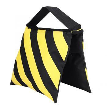 Żółte i czarne paski torba z piaskiem worki z piaskiem torby do studia wideo statyw oświetleniowy akcesoria do aparatu tanie i dobre opinie YOUTHINK CN (pochodzenie) Sandbag Materiał hybrydowy 217g