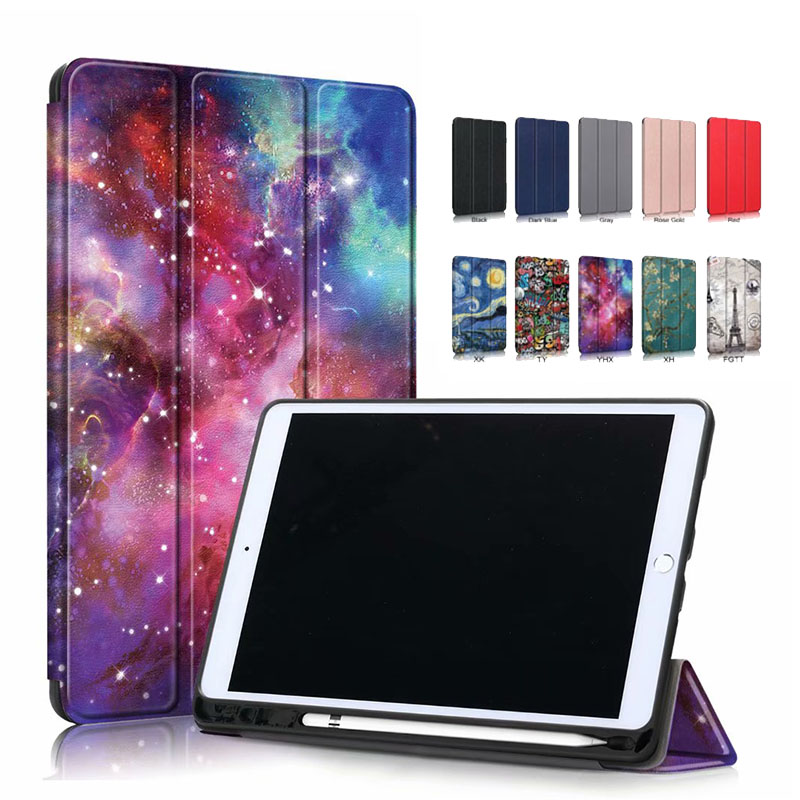 Ultra Slim Coque For IPad 10.2 2019 Case A2200 A2198 A2232 Smart Magnetic Folding Stand Pencil Holder Funda For IPad 10.2 Case