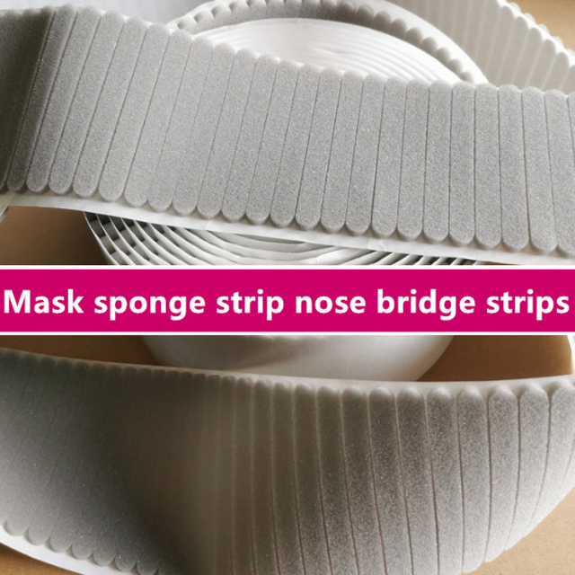 50pcs Mask Protect Strip Foam Anti-Fog Nose Bridge Pads Cushion Mouth Mask Comfortable Sponge Protection Strip Nose Bridge Strip 3