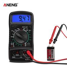 ANENG-Multímetro digital de medición de capacitancia, medidor Esr XL830L con pantalla digital en color negro para transistores eléctricos automotrices Dmm