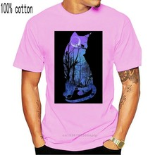 Purple Moon Cats Wicca Pagan T.Shirt Comfortable t shirt Casual Short Sleeve Print tees cheap wholesale