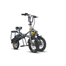 14 inch aluminum alloy Two pieces of 48V 8AH Lithium Battery foldable e scooter adult