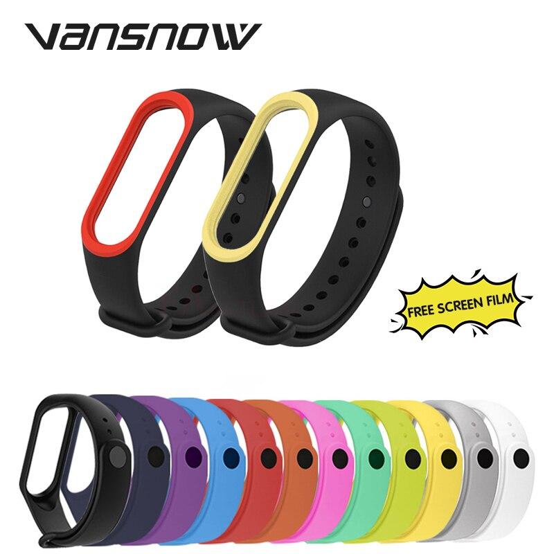 Smart Bracelet For Xiaomi Mi Band 4 3 Strap Replacement Belt Smart WatchBand Silicone 18 Colors Strap For Mi Band4 Bracelet