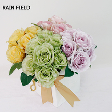 30cm 7pcs Silk Rose Bouquets Artificial Bouquet Flower Home Wedding Decoration Family Party Interior
