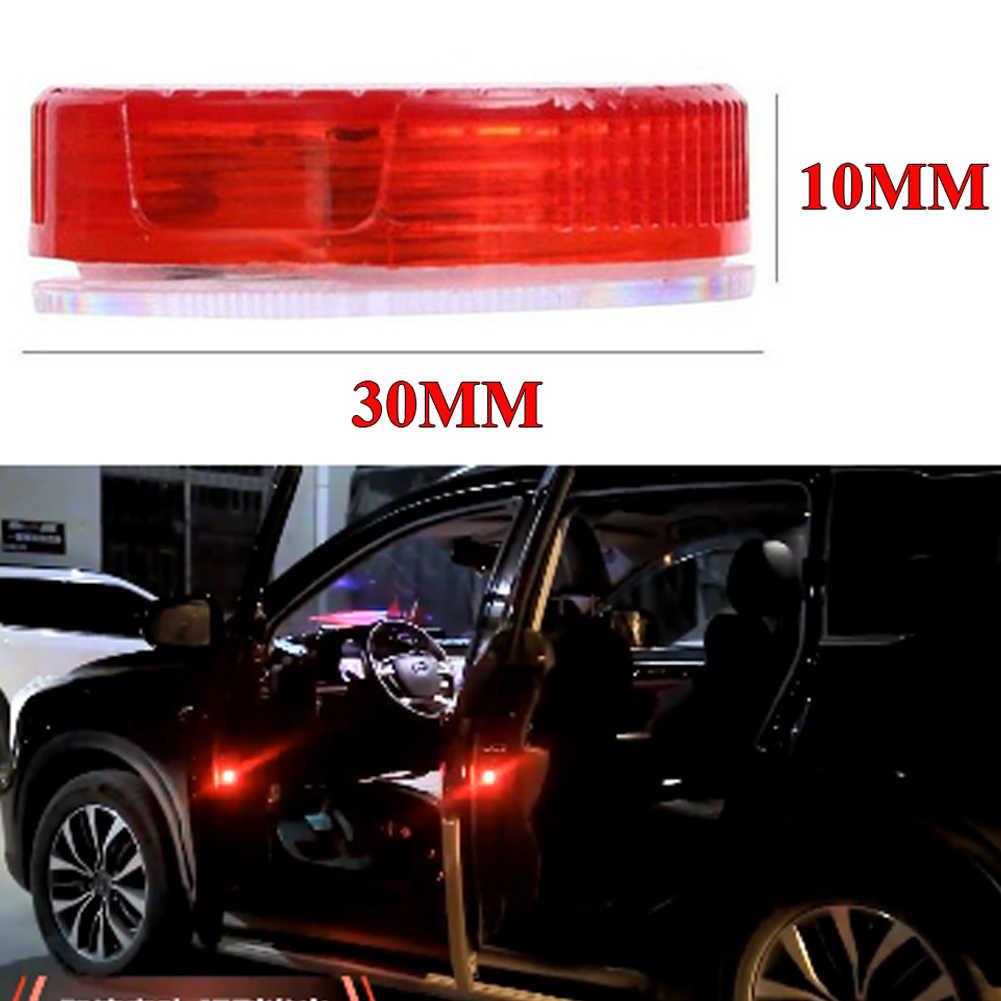 4 Pcs Carauto 5-Led Deur Open Waarschuwing Lamp Strobe Flash Anti-Collision Rear-End Veiligheid Licht draadloze Magnetische Inductie 3 Kleuren