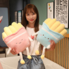 Cartoon anime French fries plush toy doll pillow sofa cushion home decoration gift girl birthday holiday gift comfortable fabric