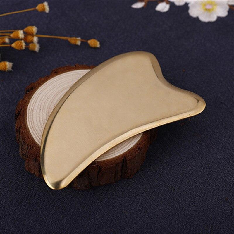 Латунные пластины в форме дельфина, очищающие пластинки для тела инструмент для массажа лица, Детокс, здоровье, Медная доска гуаша, облегчен...