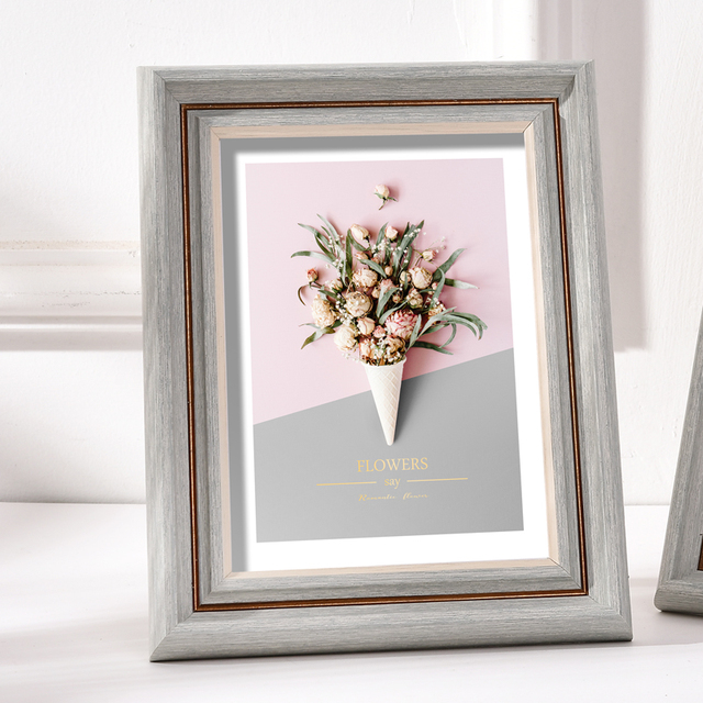 Beautiful Nordic Picture Frame Color: O Size: 5 inch