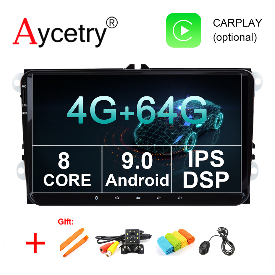4G 64G IPS DSP 1 din Android 9 0 car Radio no dvd GPS for Volkswagen