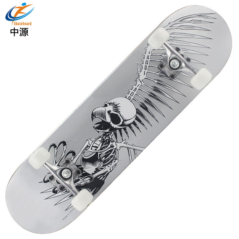 SOURCE Skateboard Four Wheel Skateboard Double Rocker Maple Board Adult Children Douyin Profession Skateboard Manufacturers Dire