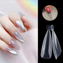 60 шт./пакет, двойная форма, система накладных ногтей, полное покрытие, форма для быстрого наращивания геля, верхние формы для накладных ногте...
