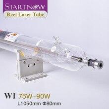 Startnow 이산화탄소 레이저 튜브 Reci W1 75W 디아 80mm 나무 상자 포장 이산화탄소 레이저 마킹 기계 조각 램프 장비 부품