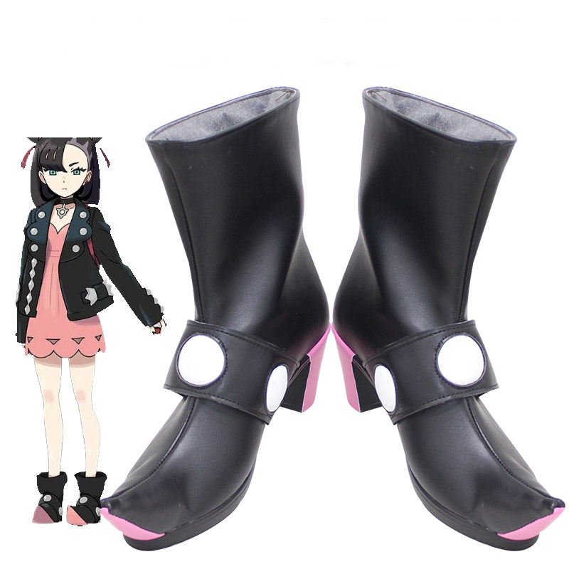 Anime Pokemon Sword Shield  Marnie Boots Cosplay Shoes