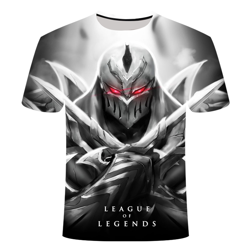 Game League Of Legends 3D Printed T-shirt Yasuo Zed Leesin T Shirt Casual Shorts Lol Tshirt Short Sleeve Summer 6XL Streetwear