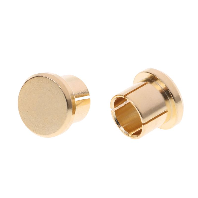 10Pcs Gold Plated Short Circuit Socket Phono Connector RCA Shielding Jack Socket Protect Cover Caps 634A