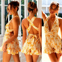 2020 Sexy Women Sleeveless Bodycon Playsuit Romper Jumpsuit Bandage Backless Bodysuit