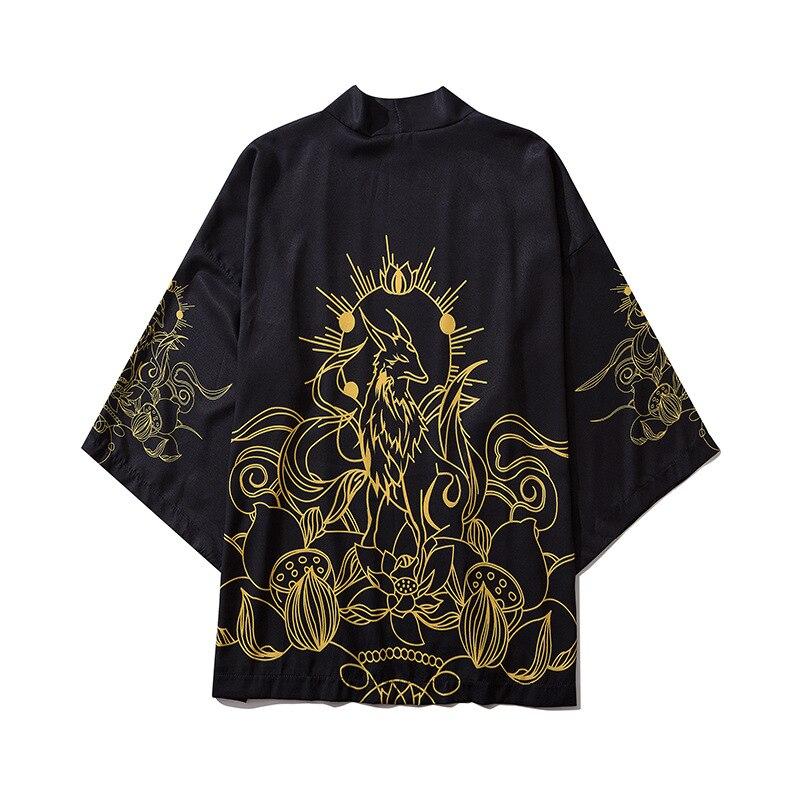 Kimono Traditional Men Women Loose Cloak Half Sleeve Cardigan Sunscreen Clothes Japanese Kimono Yukata Asian Clothing