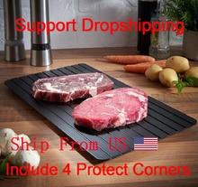 Быстрое устройство для размораживания, поднос для размораживания мяса, фруктов, еды, быстрое устройство для размораживания (в комплекте 4 защитных угла)