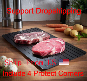 Image 1 - Fast Defrosting Plate Thaw Tray  Froze Defrost Meat Fruit Food Quick Defrosting Plate  Thaw Board( Include 4pcs Protect Corner)