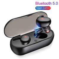 Wireless earphone in-ear recessed mini bluetooth 5.0 sports earphone portable outdoor stereo earphone with long endurance