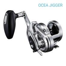 SHIMANO Rueda de pesca Original OCEA JIGGER, carrete giratorio de fundición de cebo 8 + 1BB, equipo de pesca profesional, rueda lineal