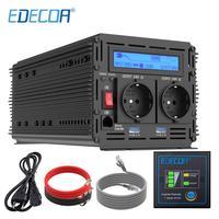 EDECOA power inverter 1500W 3000W pure sine wave DC 12V AC 220V 230V 240V UPS charger