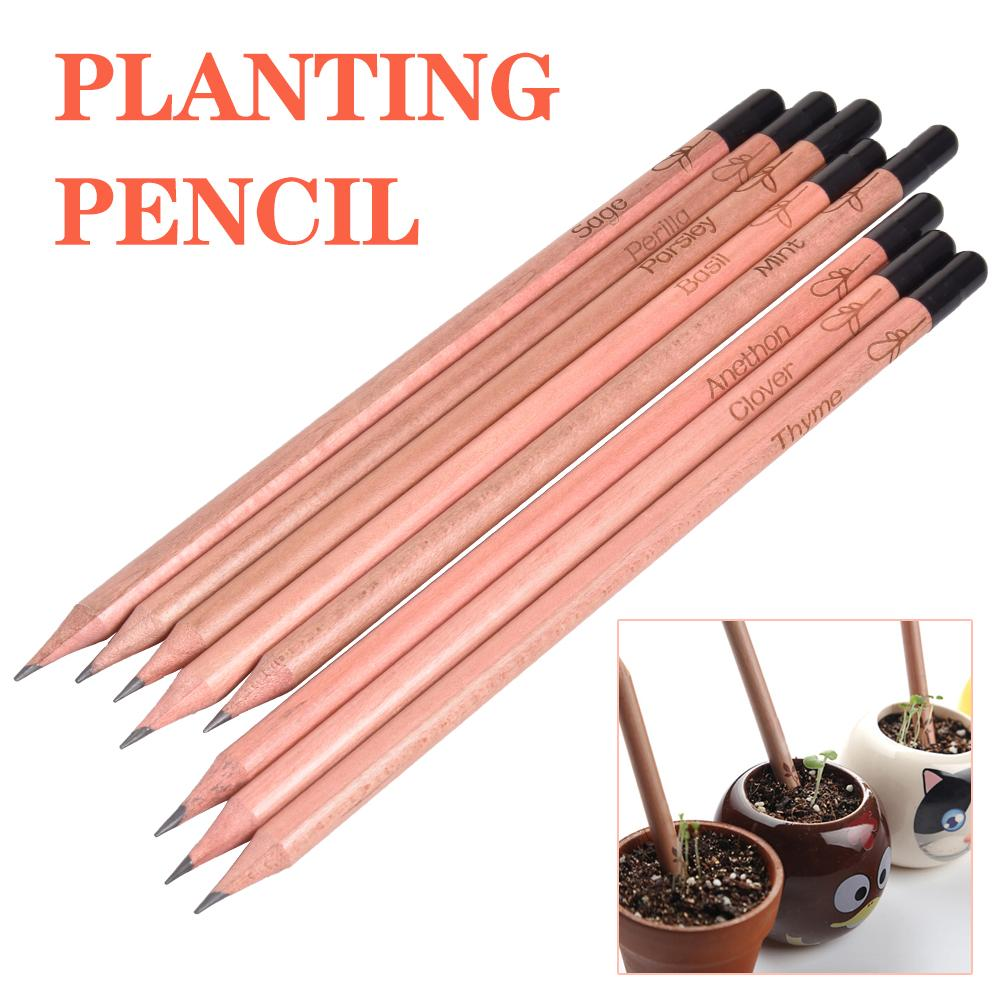 Newest 8PCS Idea Germination Pencil Set To Grow Pencil Sprouted Pencil Mini DIY Desktop Potted Plant