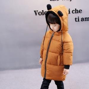 Image 4 - CROAL CHERIE chaquetas para niños, abrigo de piel para bebés niñas, abrigos de invierno, ropa de lana para niñas, Parkas de invierno con orejas de oso