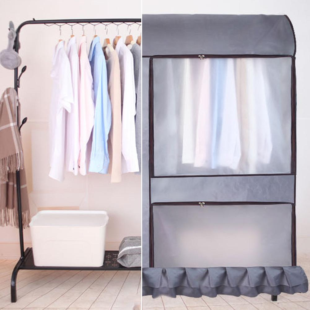 Oxford Wardrobe Cover Clothes Covers Clothing Drying Rack Dust Cover Floor-Standing Hanger Cover Moisture Waterproof Storage Bag