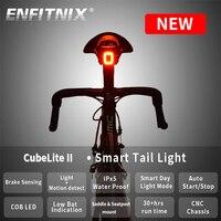 Xlite100-luz trasera con Sensor inteligente para bicicleta de montaña, luces de freno con USB, CubeLite2II, luz trasera