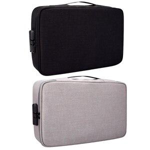Image 4 - Belge bilet çantası büyük kapasiteli sertifikaları dosyaları organizatör ev seyahat kullanımı için saklamak için önemli ürünler