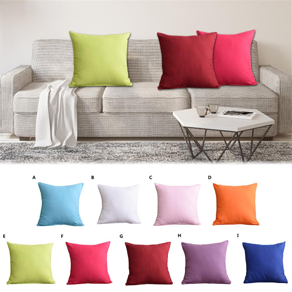 Solid Color Pillowcase Velvet Cushion Cover For Living Room Sofa Cushion Set Solid Color Pillowcase Cushion Cover Pillow Cover