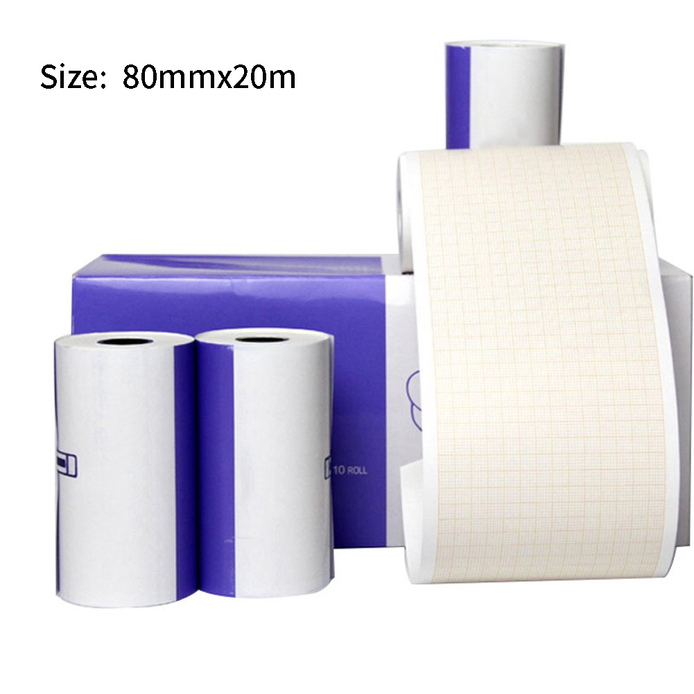 Portable Sheets Practical Printer Paper Chart Electrocardiograph Recording Roll ECG Machine Durable Thermal Clear Smooth
