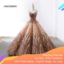 J66695 Jancember Quinceanera שמלת 2020 כבד בעבודת יד קלע כדור שמלות בנות Masquerade שמלת כדור Kleider Vestidos Para 15 años