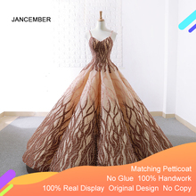 J66695 Jancember Quinceanera Dress 2020 Heavy Handmade Sling Ball Gowns Girls Masquerade Dress Ball Kleider Vestidos Para 15años