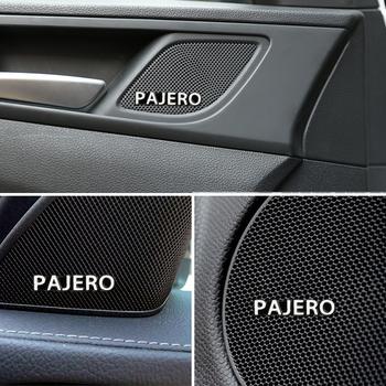 10 sztuk car audio udekoruj 3D aluminiowa plakietka naklejka z logo dla Mitsubishi Pajero 2 3 4 akcesoria Car Styling tanie i dobre opinie