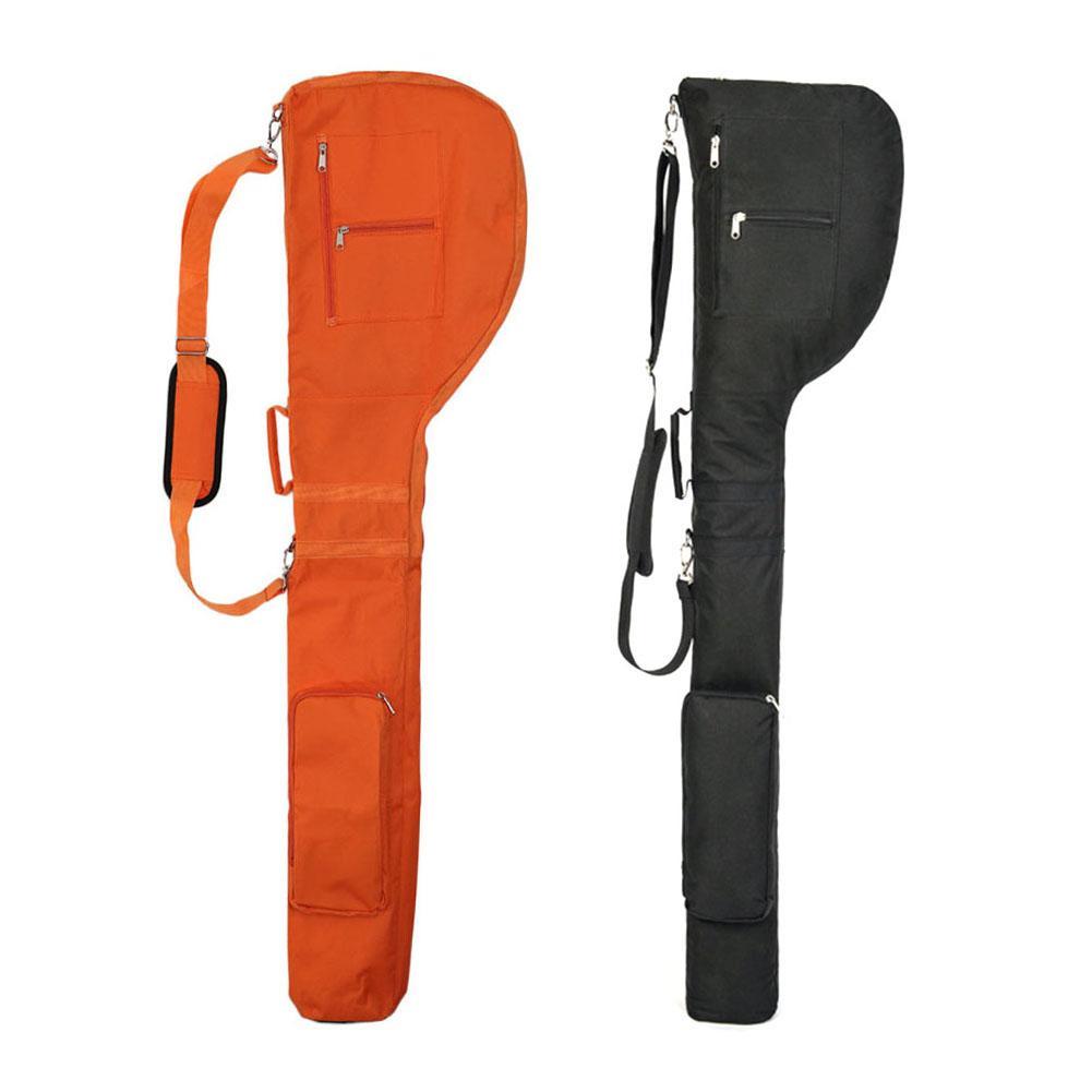 Portable Golf Club Bag Golf Practice Bag Nylon Environmental Material Half Setof Golf Bag Soft Foldable Bag For Outdoor Practice