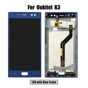 Image 2 - BingYeNing 5,5 pulgadas para Oukitel K3 LCD y Digitalizador de pantalla táctil con marco de pantalla accesorios de teléfono herramientas de repuesto de montaje