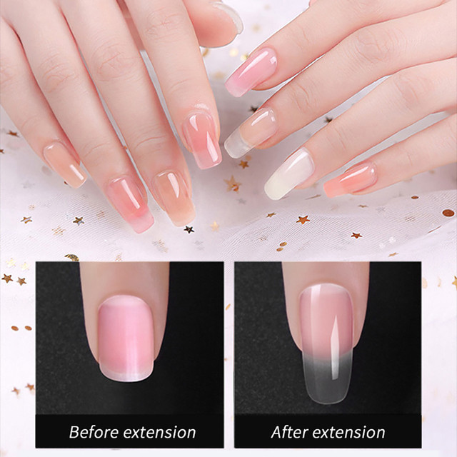 Poly Uv Gel Nail Builder Builder Extension Kit LED Lamp Nail Gel Polish Set 15ml Extend Builder Polygel Nail Kit Poly Gel Set 2