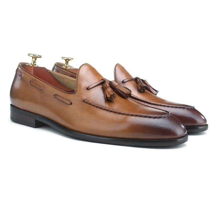Wincheer/Новинка 2019 года; повседневные мужские лоферы из натуральной кожи на плоской подошве; мужские лоферы; удобная мужская обувь